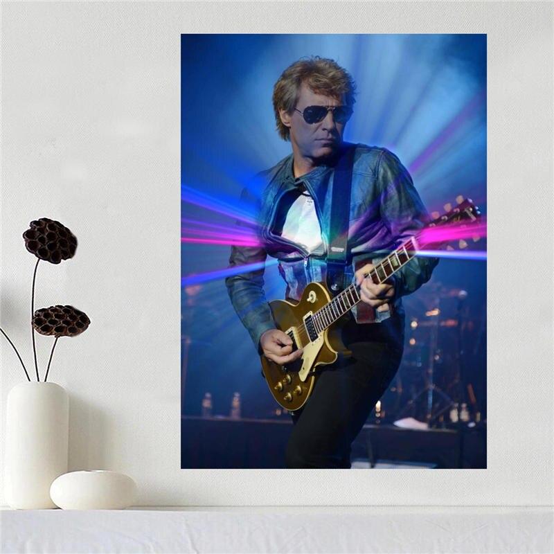 Canvas affiche Art Jon Bon Jovi Décoration affiche tissu tissu mur d'affiche de Soie Tissu D'impression SQ0527