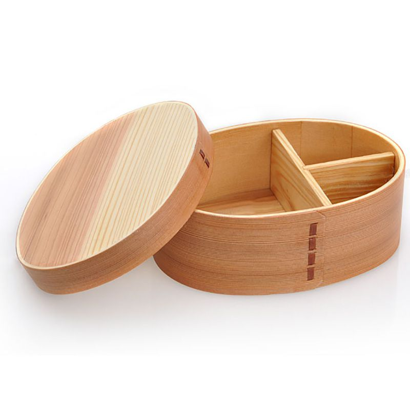 1 Pcs Natural <font><b>Wood</b></font> <font><b>Lunch</b></font> <font><b>Box</b></font> Wooden Bento Lunchbox Food Container Japanese Travel School Camping <font><b>Lunch</b></font> <font><b>Box</b></font> image