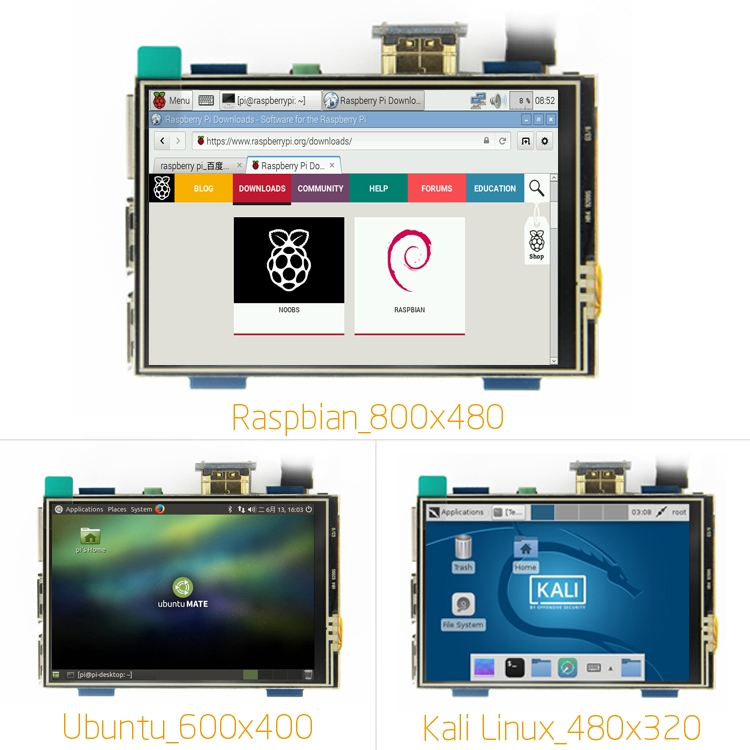 MPI3508 3.5 Inch USB Touch Screen Real HD 1920x1080 LCD Display For Raspberry Pi 3/2/B+/B/A+