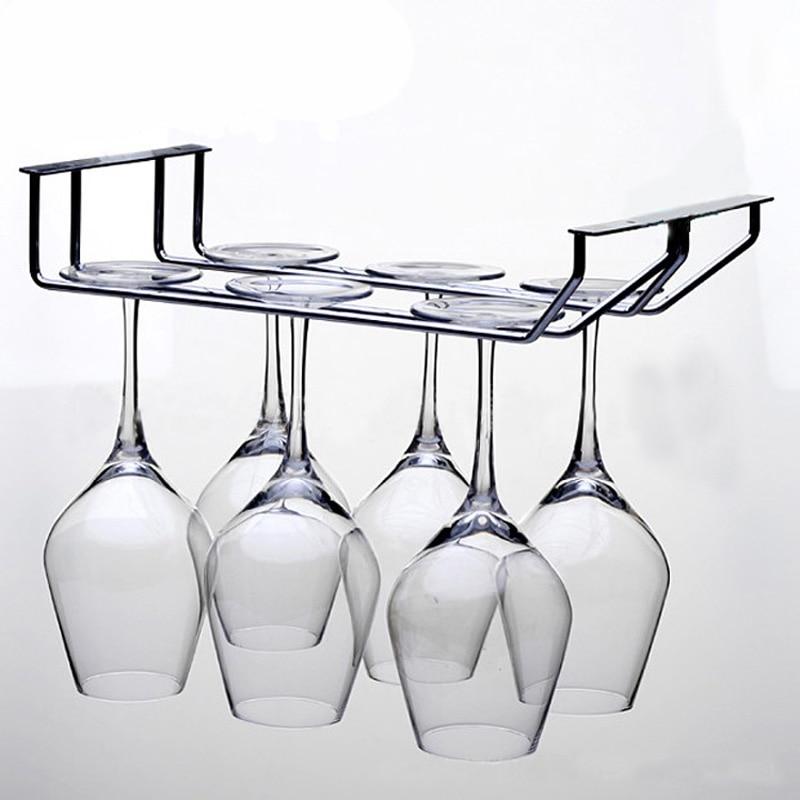 1 Stück Edelstahl rutschfeste Weinhalter Kelch Weinglas Regal hoher - Küche, Essen und Bar