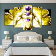 ArtSailing HD print 5 piece canvas dragon ball Modular pictures wall art for bedroom Poster with frame UP-2172C
