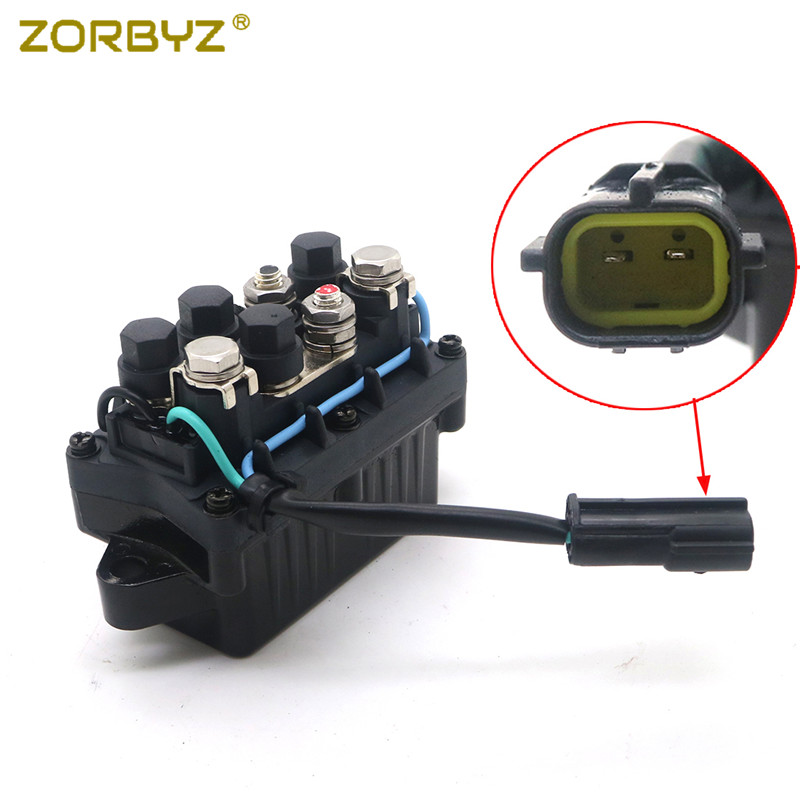 ZORBYZ 1Pcs 2 Pins Trim Relay For Yamaha 4 Stroke Outboard 63P 81950 00 & 68F 81950 01-in Covers & Ornamental Mouldings from Automobiles & Motorcycles    1