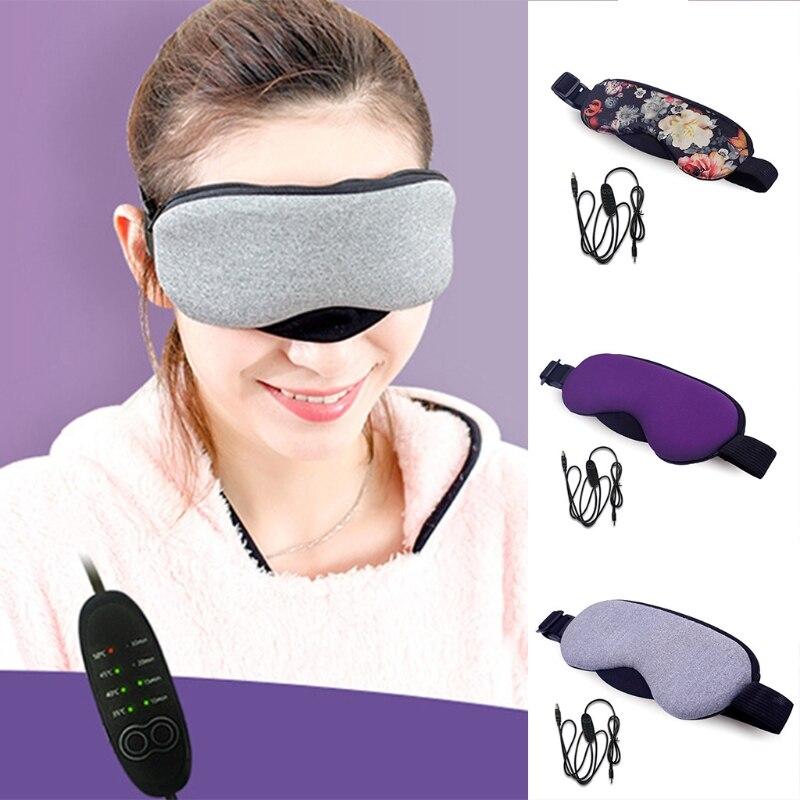 Neue Temperaturregelung Wärme Dampf Baumwolle Augenmaske Trockenen Müde Kompresse USB Hot Pads Augenpflege Heißer!