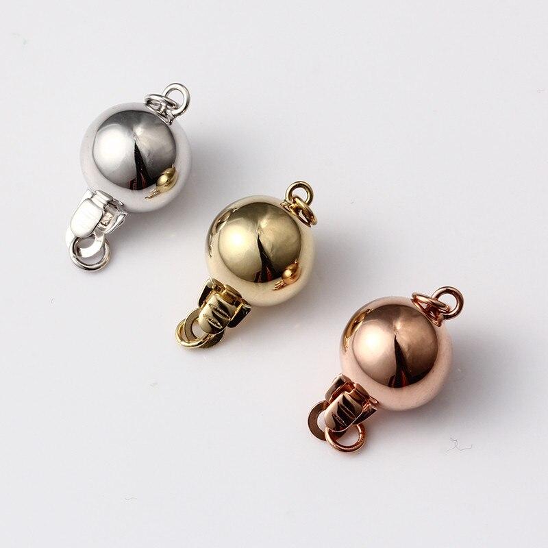 14 K or visage rond fermoir perle collier fermoir bracelet perle fermoir or fermoir accessoires à créer soi-même