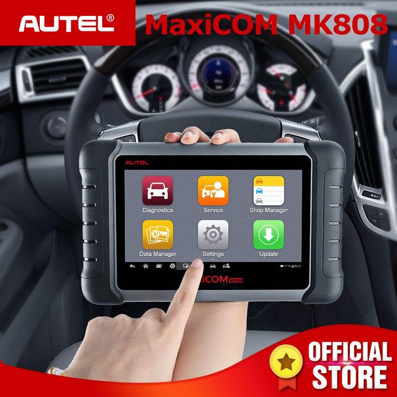 Autel MaxiCOM MK808 OBD2 Scanner Huile Réinitialiser SAS DPF Clé Programmation OBD 2 Voiture De Diagnostic Auto Outil MD802 + MaxiCheck pro PK MX808