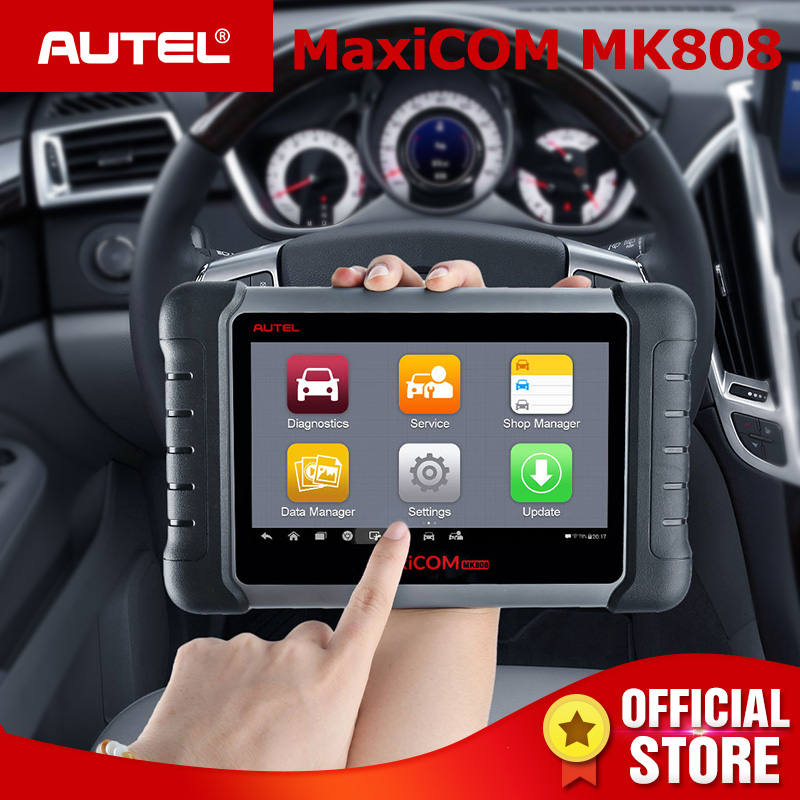 Autel MaxiCOM MK808 OBD2 Scanner Reset Olio SAS DPF Chiave di Programmazione OBD 2 Auto Diagnostica Strumento di Auto MD802 + MaxiCheck pro PK MX808