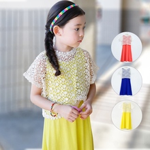 2016 New Summer Girls Beach Dress Cotton Children Dress Kids Lace Dress Parented Clothes