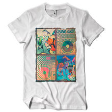 SO 90S music retro graffiti disco boom box player dtg mens t shirt teeTop Tee 100% Cotton Humor Men Crewneck Tee Shirts цена