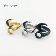 Black Knight mens fashion Spanner rings Silver color Stainless steel wrench ring punk fashion jewelry rings for man BLKN0715 dmlsky king of rock rings jewelry black silver punk ring for women and mens stainless steel ring couple rings m2816
