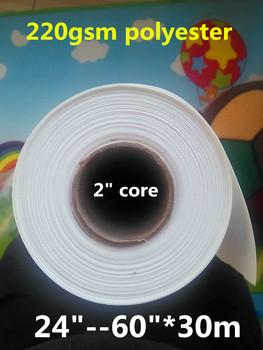 220gsm odporny na działanie wody do drukarek atramentowych rozciągliwy 100 poliester do drukarek atramentowych na płótnie z matową powłoką tanie i dobre opinie Papier fotograficzny colormaker white surface white back 100 polyester high pigment dye uv ink Matte surface standard export packing
