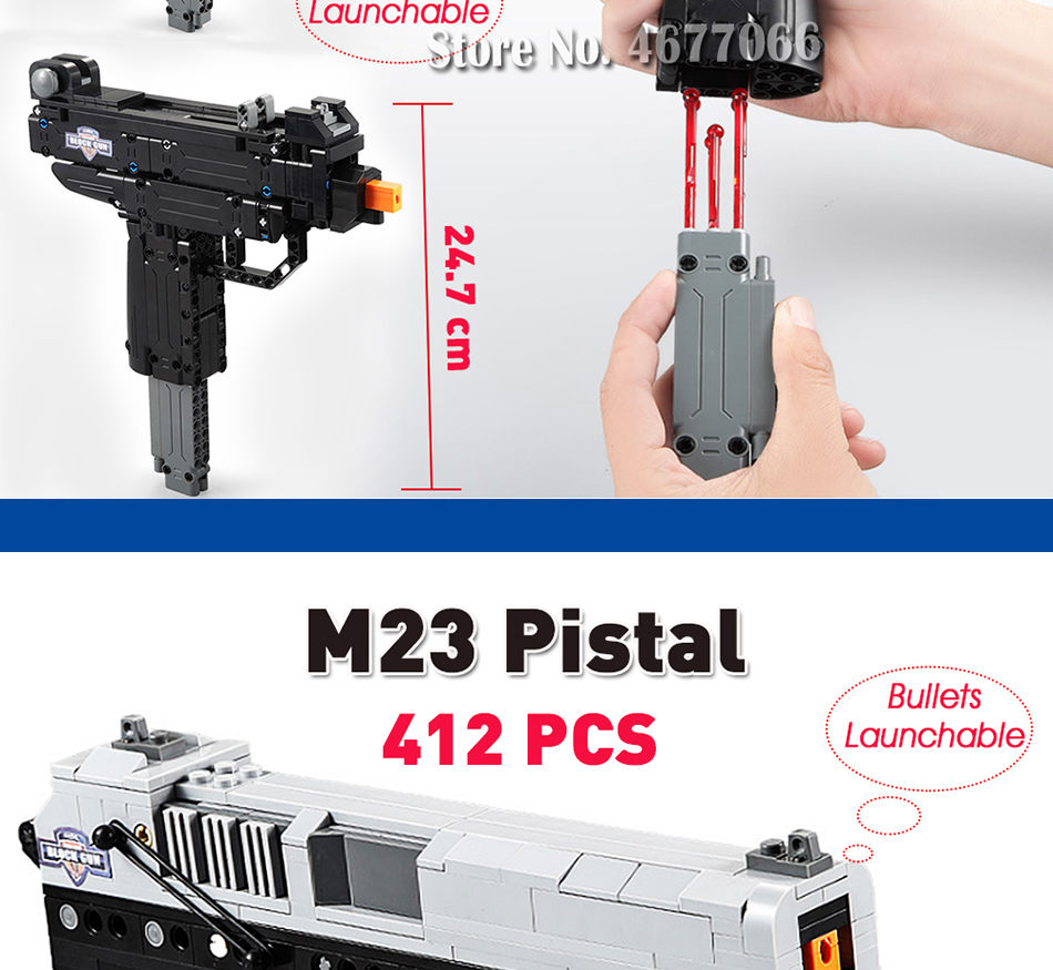 cada building blocks technic gun toy models & building toy gun model 98k bricks educational toys for children ww2 toys for kids 13