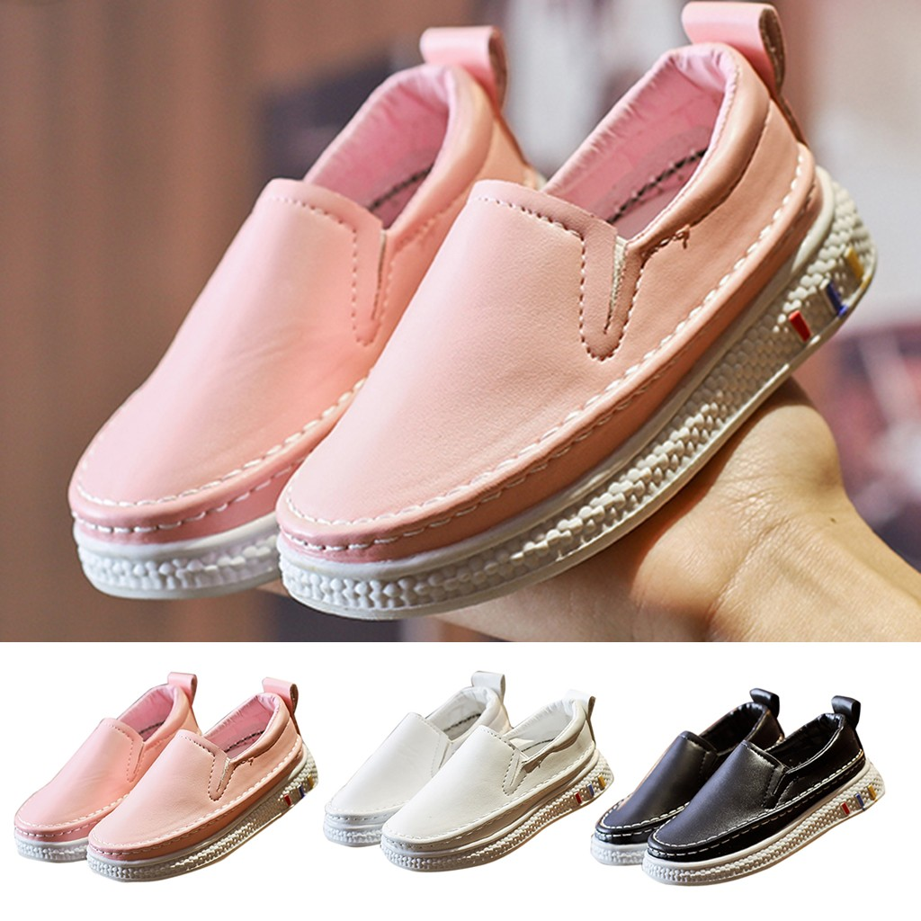 180bc972ef MUQGEW Baby Girls Lazy Shoes Child Boys Girls Casual Slip-on Sport Summer  Shoes 2019 Fashion Solid Color PU Leather Shoes PINK ~ Perfect Deal July  2019
