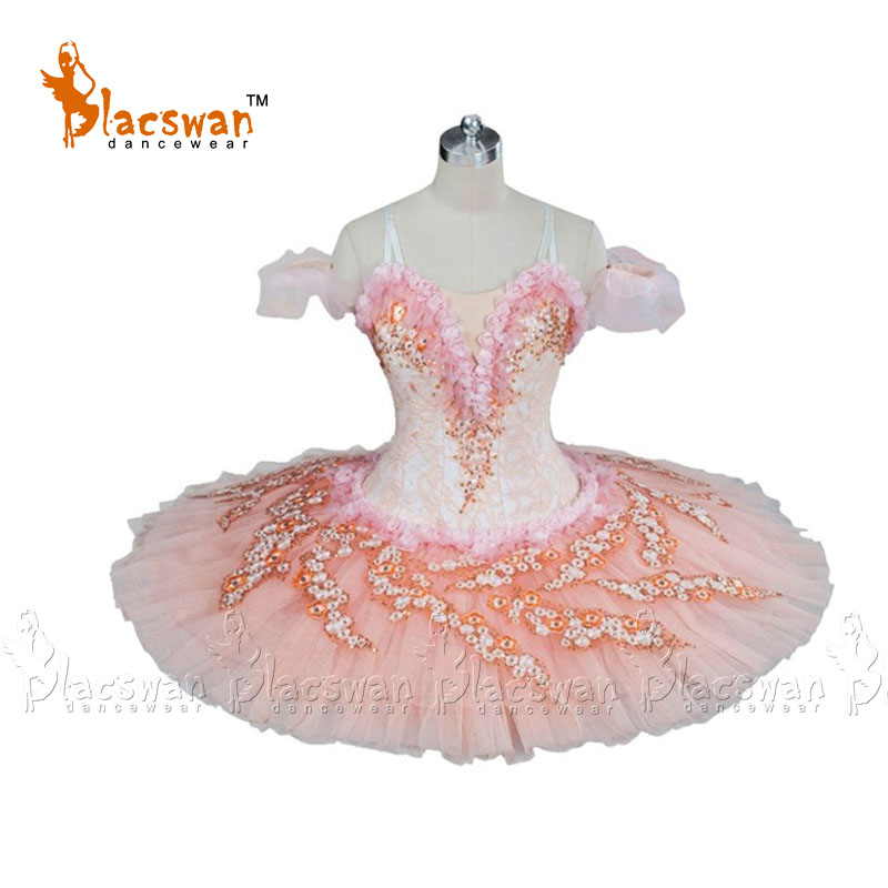 Adult women peach pink professional tutu platter stage performance competition classical ballet costumes Nutcracker tutus girl