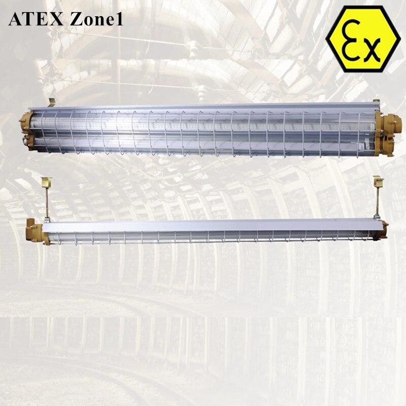 Conception professionnelle ATEX certifié LED antidéflagrante tube luminaire 2ft 4ft zone 1 anti-déflagrant linéaire LED lumières