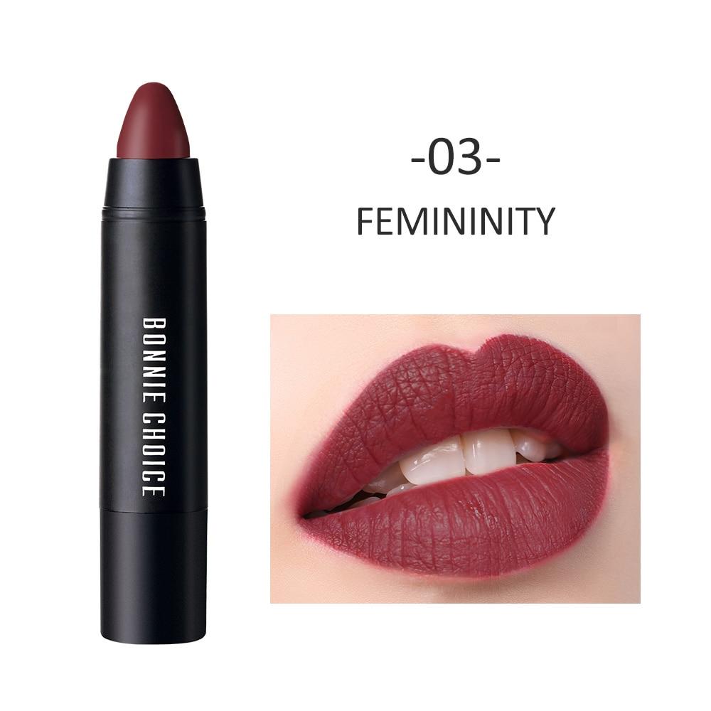 BONNIE CHOICE 10 Colors Matte Women Lipstick Waterproof Long lasting Gothic Rose Velvet Lipstick Pen Red Lip Beauty in Lipstick from Beauty Health