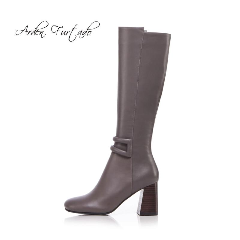 0a1d0d3e Arden-Furtado-2018-Oto-o-Invierno-moda-rodilla-botas-Zapatos-Mujer -chunky-tacones-altos-8-cm.jpg