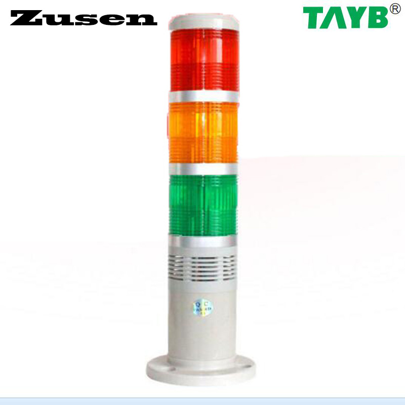 Zusen TB50-3T-D-J red yellow and green color led 50mm signal tower light always light with buzzer купить в Москве 2019