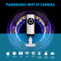 185 Degree Home Security IP Camera Wi Fi Wireless Mini Network Camera Surveillance Wifi 720P CCTV