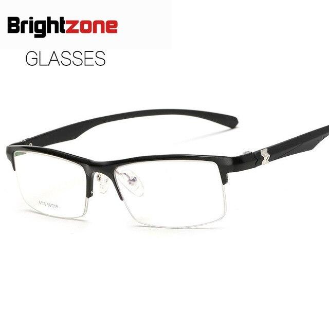 2017  Business Affairs Type Plain Glass Spectacles Aluminum Magnesium Plain Glass Mirror Man Block Myopia Frame Glasses