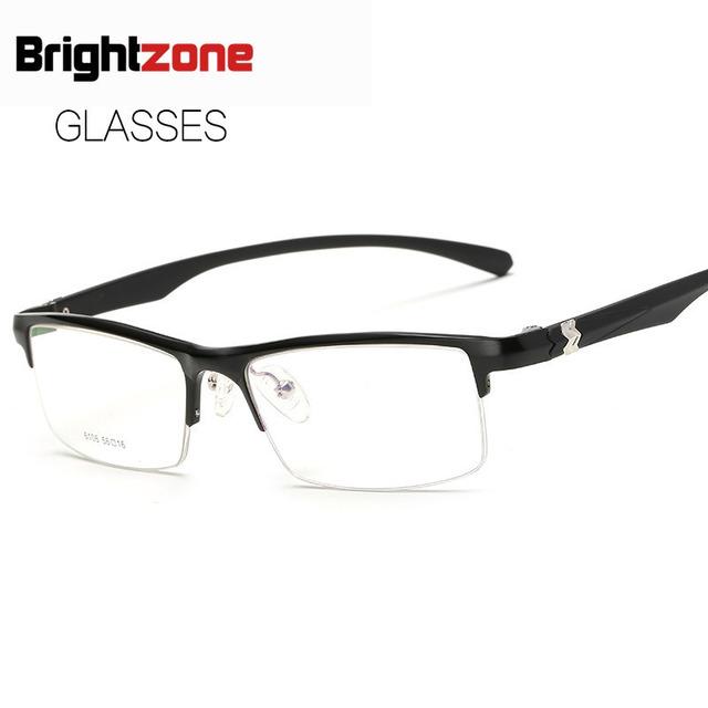 2017 Tipo de Assuntos de Negócios Homem Bloco de Magnésio Alumínio Espelho De Vidro Liso Espetáculos de Vidro simples Miopia Óculos de Armação