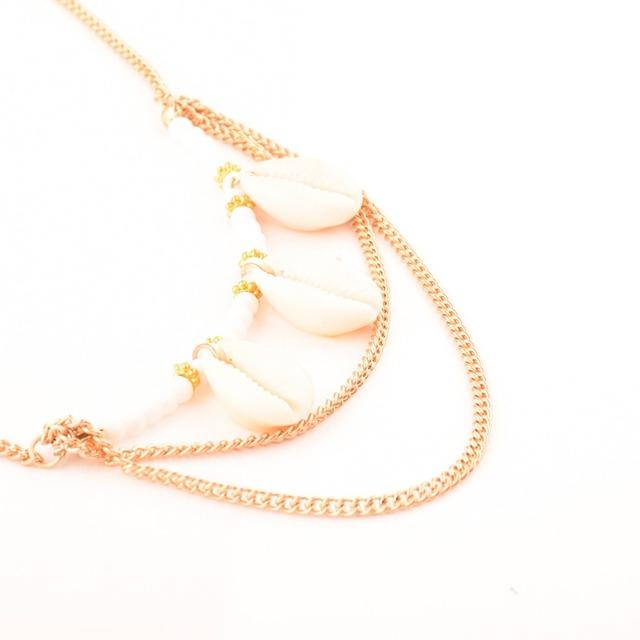Multilayer Seashell Embellished Statement Necklace