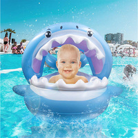 Mealivos Baby Pool Float Swimming Float with Canopy Inflatable Floatie Swim Ring for Kids Aged 9 36 Months Baby Pool Float