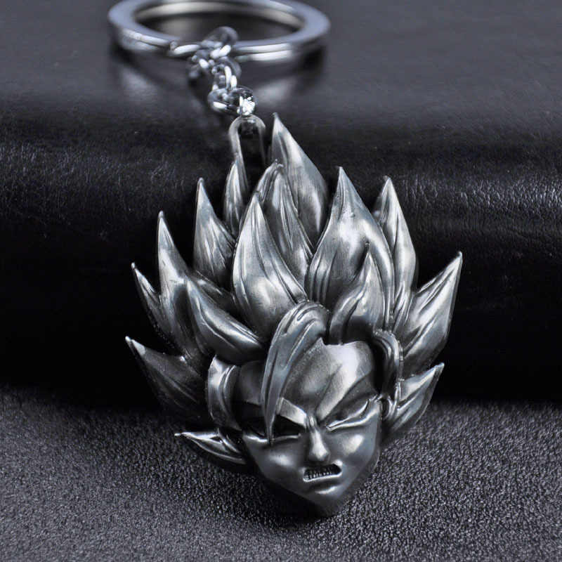 Jóias Anime Dragon Ball Z Son Goku Saiyan keychain 3D Metal Toy Figura Pingente de Chave Acessórios Anel chave Do Carro Titular adereços