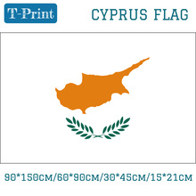 Free shipping Cyprus Flag 15*21cm 3*5ft 90*150cm/60*90cm/30*45cm
