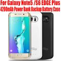 10 pçs/lote fedex livre 4200 mah power bank caso carregador de bateria de backup para samsung galaxy note5 n9200 s6 edge plus g9280 n58
