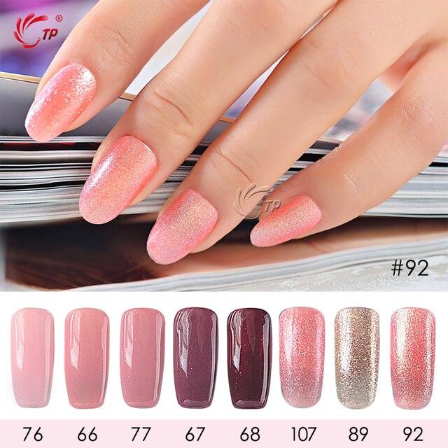 TP 1pc 8ml Glitter Gel Polish UV Nail Gel Varnish Summer