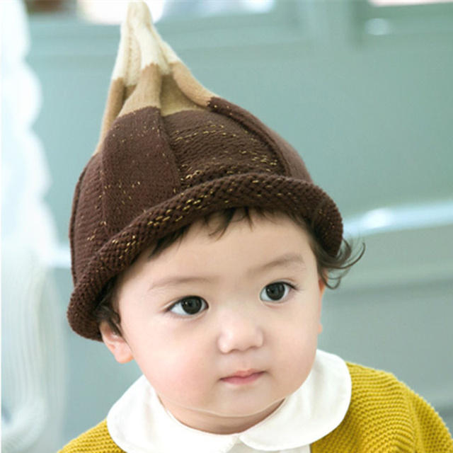Newborn 2016 Autumn New Baby Hat Hedging Steeple Cotton Cap Baby Girl Hat  Baby Boy Hat Baby Photography Accessories 4 Colors 5c5eaa9affee