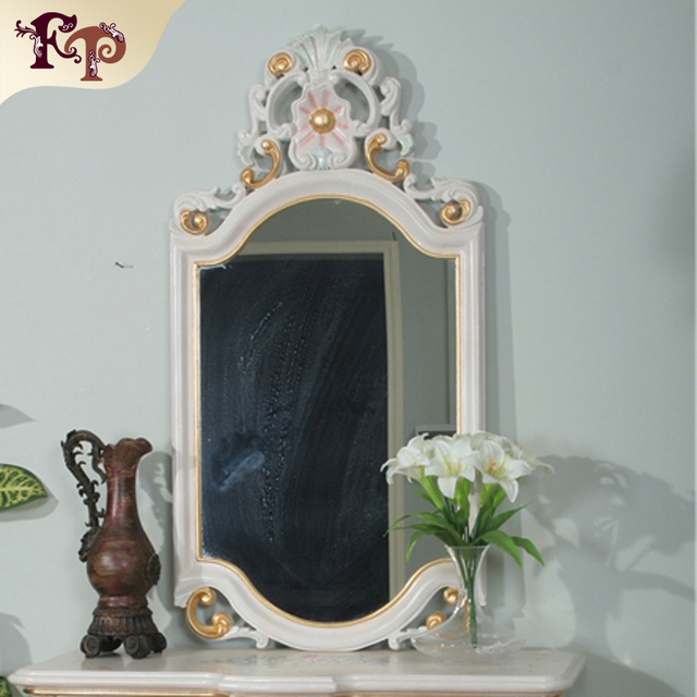 Princesa Europa creativa tipo de resina higiénico de cristal Coreano maquillaje espejo escritorio espejo de maquillaje portátil
