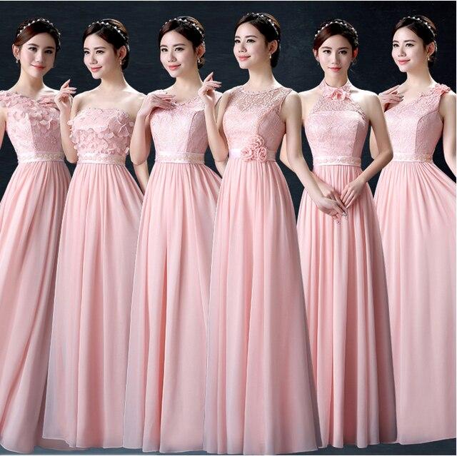 Pálido rosa claro más el tamaño maxi largo de dama de honor una ...