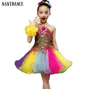 Image 1 - בנות שמלת בלט לילדים ילדה ריקוד ילדים פאייטים בלט תלבושות עבור בנות טוטו ריקוד ילדה שלב Dancewear ביצועים