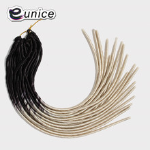 Юнис волос продукты дреды косы 20 корни/пакет, химическое крючком коса Моноволокно расширения 3 штук Ombre два тона Цвета