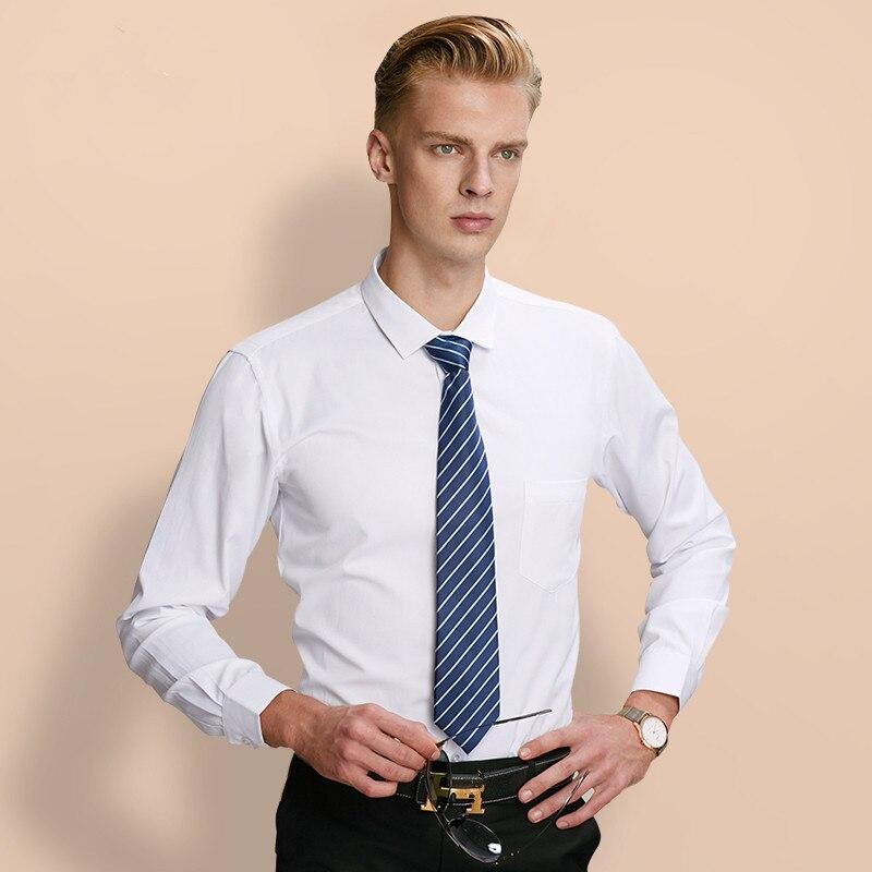 Classic Men Shirt Long Sleeve twill White Dress Shi