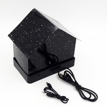 Wholesale creative DIY hut projector Star light flash color house all over the sky star audio message board