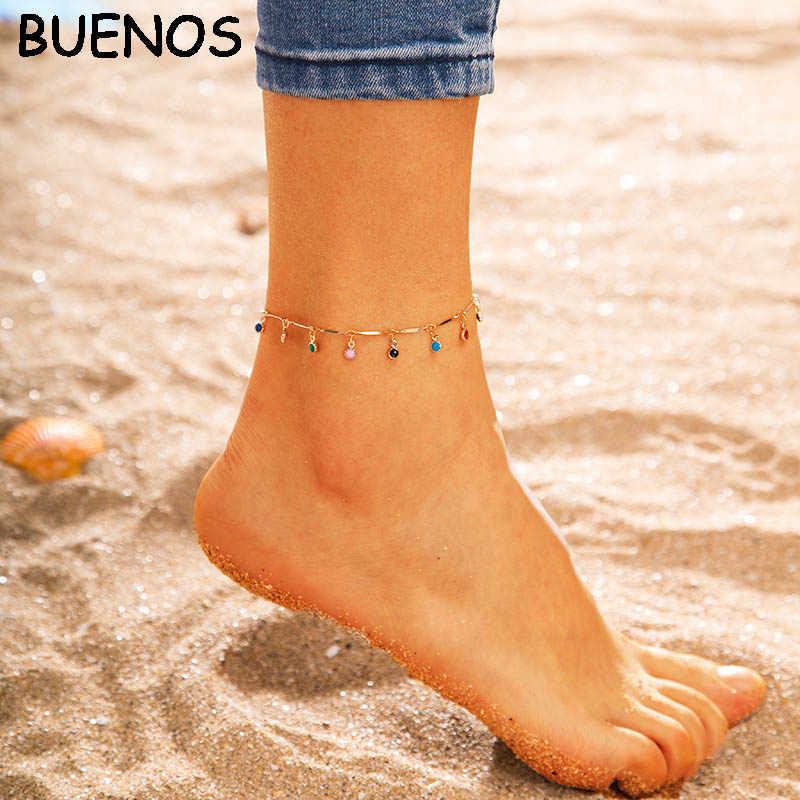 ブエノスアイレスボヘミアンシェルビーズヒトデウミガメ女性多層アンクレット脚ブレスレットフットジュエリー CE0613