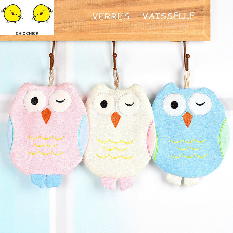 New Cartoon Owl Cleaning Tool Wash Towel Bath Bamboo Fiber Glove Bathing Toy For Boy And Girl