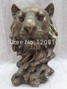 10 Chinese Bronze Animals Face Sculpture China Zodiac Copper Tiger Head Statue z10 Chinese Bronze Animals Face Sculpture China Zodiac Copper Tiger Head Statue z