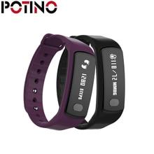 Potino T3 Bluetooth Smart Браслет Heart Rate Мониторы шагомер вызова сообщение напоминание Фитнес трекер для андроид iOS