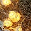 Colorido/Branco Quente LED Piscando Plug Luzes Da Corda Rendas Criativo Rose Em Forma de Iluminação Badroom String para Casamento Decoração Do Feriado
