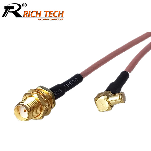 Fabulous 10Pcs Sma Female To Mcx Right Angle Male Plug Connector Coaxial Wiring Database Denligelartorg