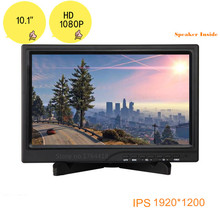 HD 10.1 inch 1920*1200 1080p screen monitor IPS HDMI/VGA/DVI port for Raspberry pi XBOX PS WiiU game machine speaker inside