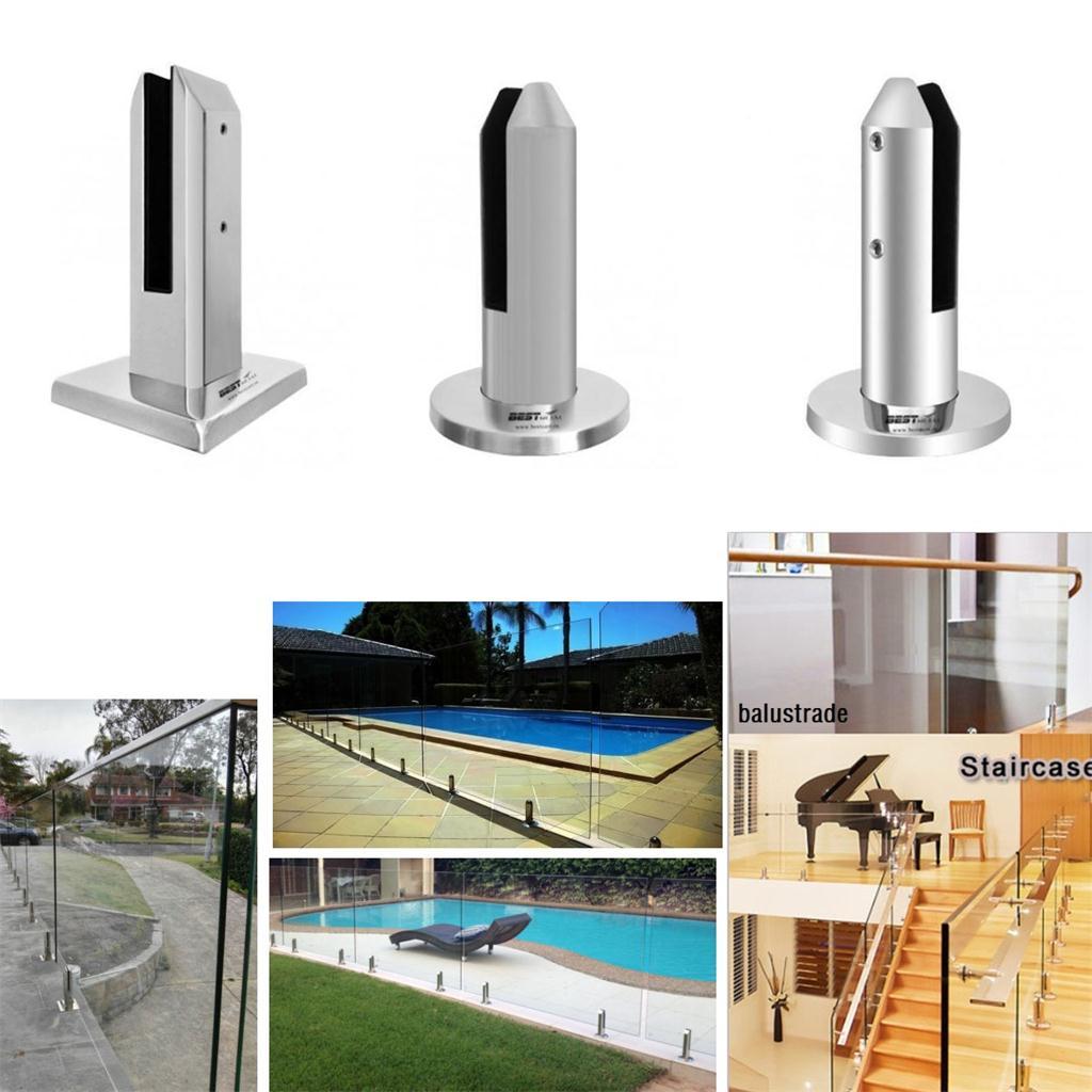 16 cm verre piscine pont clôture clôture robinet support pince pour sans cadre jardin Balustrade verre piscine