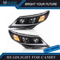 Автомобильная фара для Toyota фара Camry 2012 2013 2014 HID Биксеноновые линзы светодиодные лампы DRL тюнинг автомобильные огни