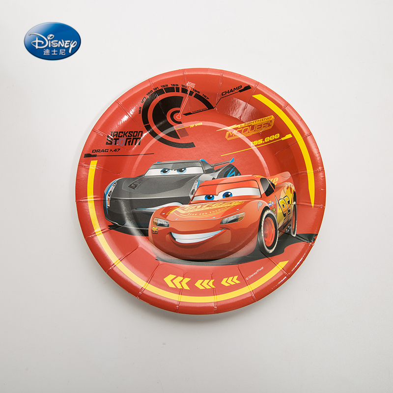 Disney Cartoon Cars 6pcs/lot 7inch Paper Plate Dish Lightning McQueen Kids Boys Favor Happy Birthday Party Supplies Decoration-in Disposable Party Tableware ... & Disney Cartoon Cars 6pcs/lot 7inch Paper Plate Dish Lightning ...