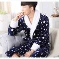 Homens Casais Vestes Coral Fleece Sleepwear Pijama de Flanela dos homens Quentes Homem Vestido Robes Pijama Camisola Roupão Quimono Salão 265