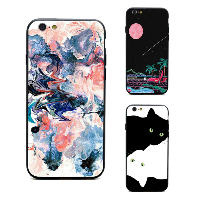online store bf50a 3d377 US $1.64 34% OFF|phone cases tumblr aesthetic art TPU+PC Black covers for  iPhone X 6 6s 7 8 plus for Apple 5 5s se best High Quality Housing-in ...