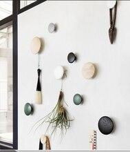 Висячие деревянные крючки на стене деревянная вешалка сад круглый крючок в форме гриба настенная вешалка деревянная одежда крючок красивый домашний декор